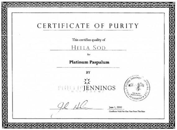 сертификат за тревни чимове от Hellasod